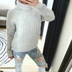 William Rast Turtleneck Sweater Wool-Cotton Blend